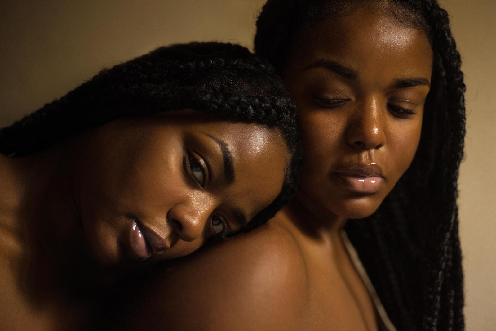 two woman photo